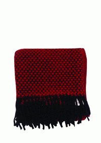 ผ้าห่ม Stramalj red/black woven wool