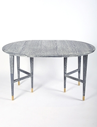 Mid-century rustic dining table